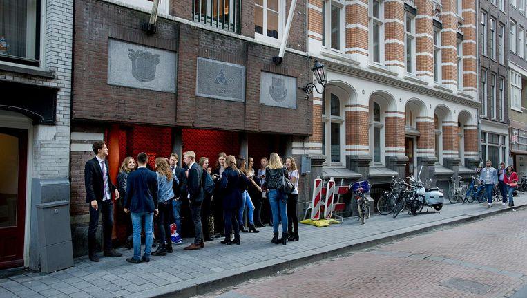 Exterieur van het gebouw van de Amsterdamse Studenten Corps. Beeld anp