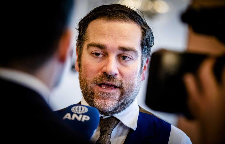 VVD-fractievoorzitter Klaas Dijkhoff vandaag in de Tweede Kamer. Beeld ANP
