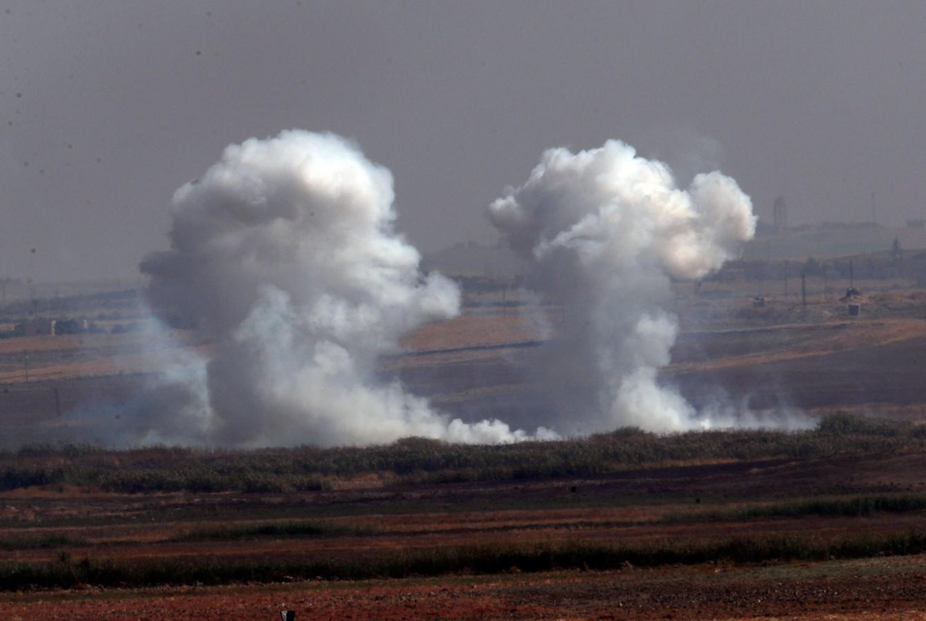 Turkse aanvallen over de grens.