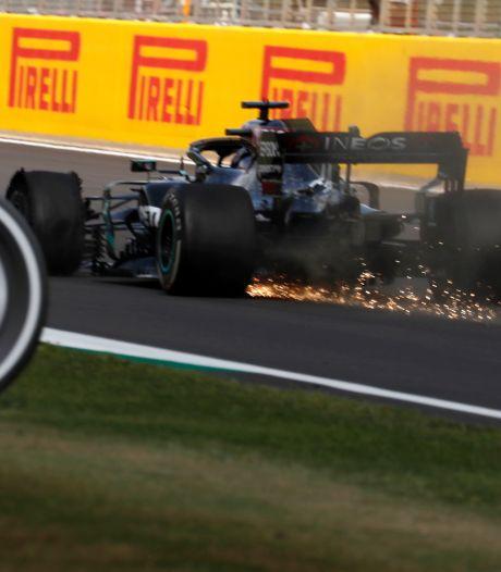 Lewis Hamilton s'impose sur trois roues au GP de Grande-Bretagne