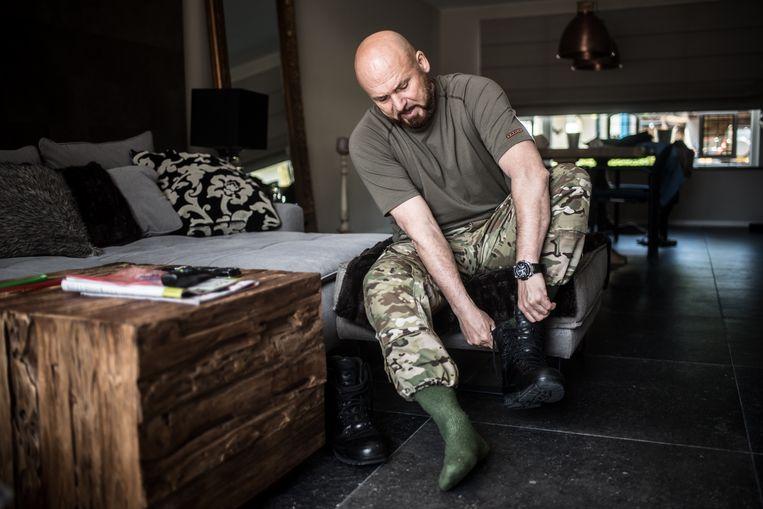 Marco Kroon in zijn huis in Schijndel. Beeld Joris van Gennip