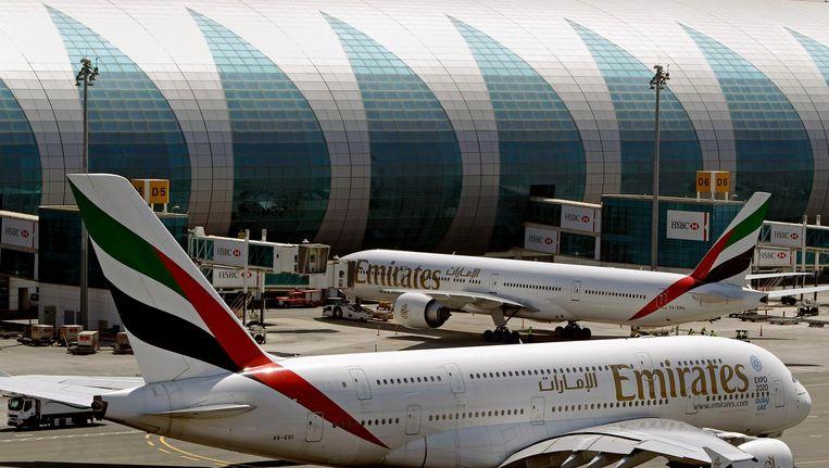 De door het verbod getroffen luchthaven van Dubai. Beeld AP