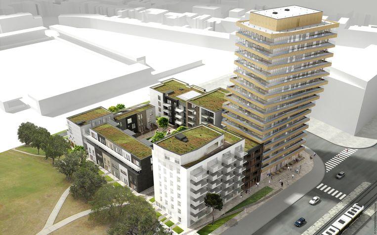 Waar The White van Sleuyter zou komen, op de site van het Mediacenter, staat nu O'Sea van ontwikkelaar Allfin gepland.
