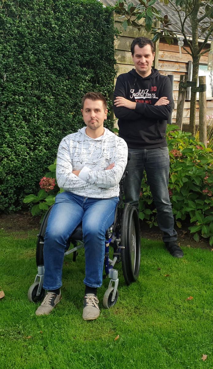 Nick Schapendonk uit Udenhout en Rowan Csizmazia uit Drunen zoeken gelijkgestemden met wie zij samen kunnen gaan wonen.
