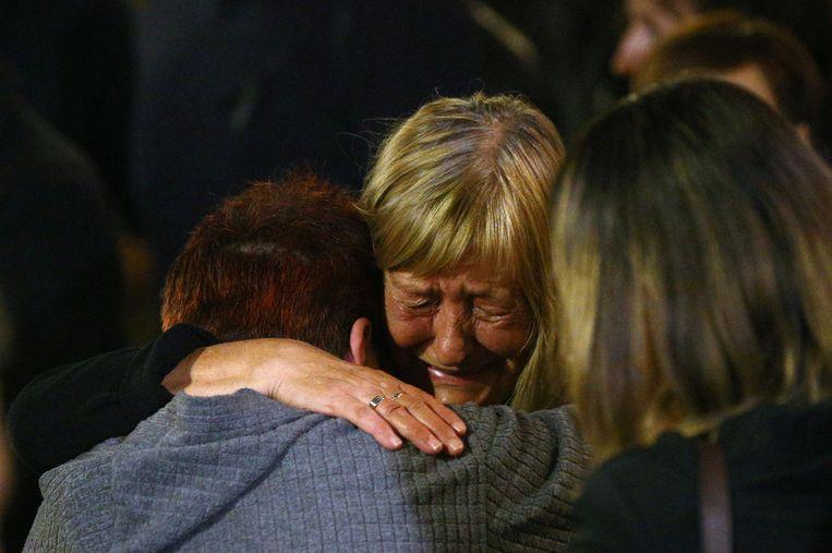 De moeder van de vermoorde journaliste Viktoria Marinova.