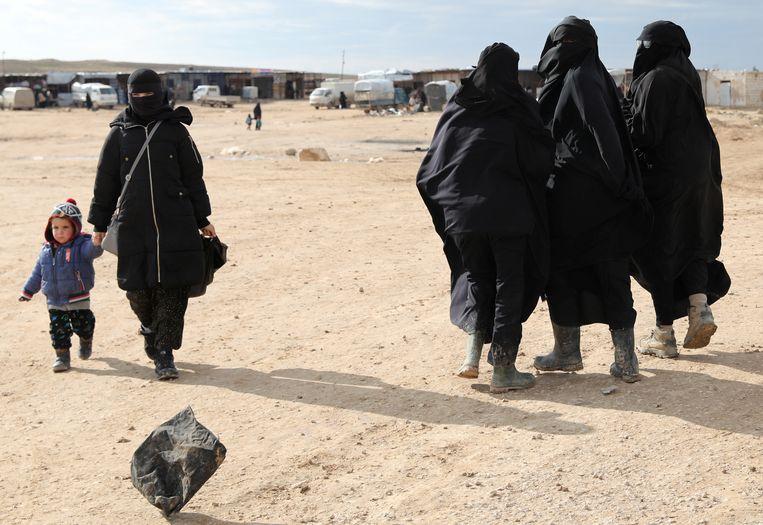 8 januari 2020: het Al-Hol kamp in Syrië waar ook Nederlandse vrouwen en hun kinderen zitten.  Beeld Reuters
