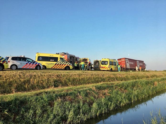 Een zwaar ongeval op de A4 bij Woensdrecht.