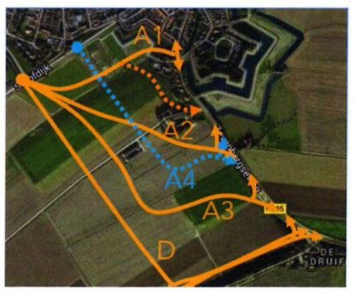 Er is gekozen voor variant A3 voor de randweg Klundert.