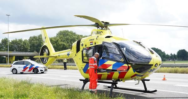 A58 richting Breda dicht door ongeluk bij Gilze, traumahelikopter opgeroepen.