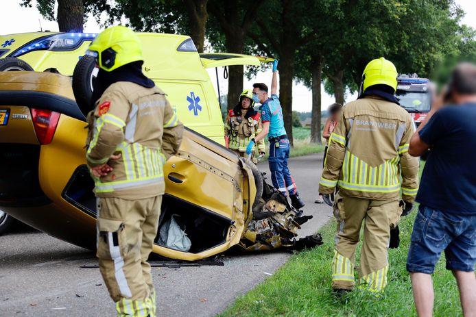 De man raakte gewond door het ongeluk in Milsbeek.