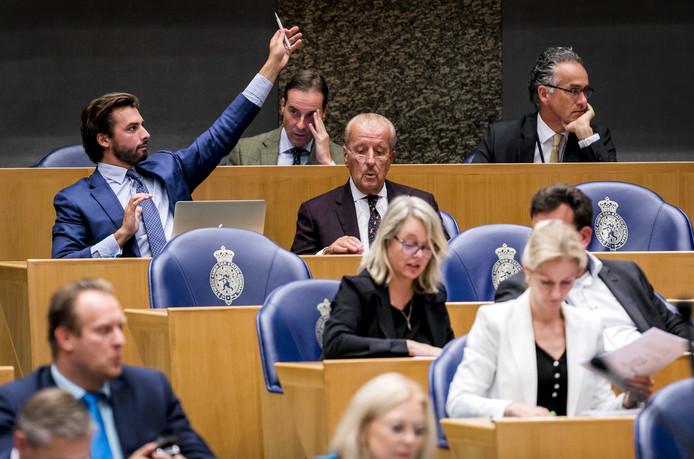 2018-09-21 19:35:05 DEN HAAG - Thierry Baudet (FvD) tijdens de tweede dag van de Algemene Politieke Beschouwingen. ANP REMKO DE WAAL