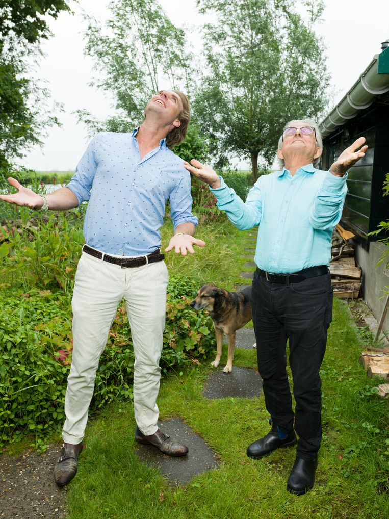 Rutger Castricum en Frans Bromet. Beeld Ivo van der Bent