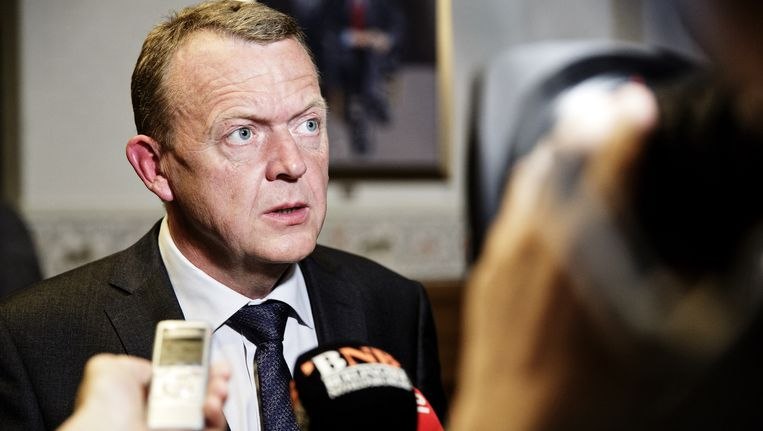 Partijleider Lars Rasmussen.