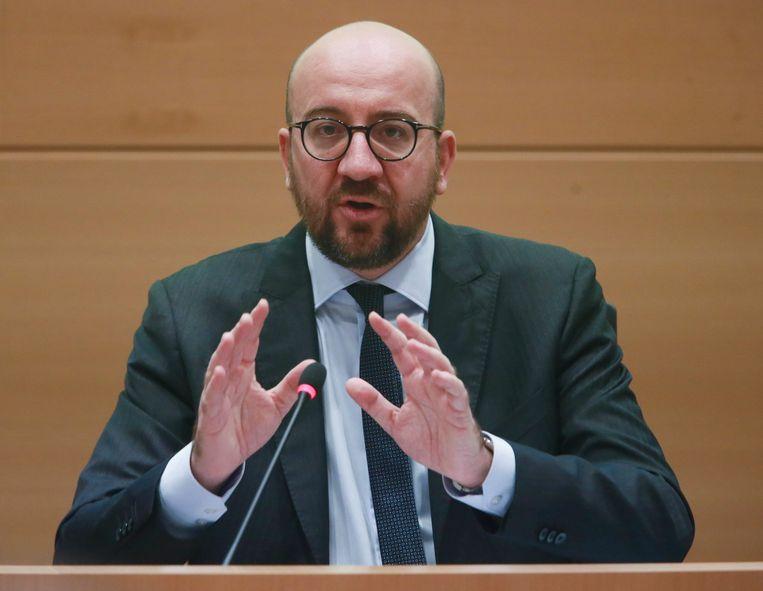 """Charles Michel zei vandaag in de Kamercommissie: """"Carles Puigdemont is een Europees burger met rechten en plichten, zonder privileges""""."""