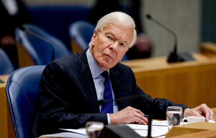 Informateur Tjeenk Willink tijdens het debat in de Tweede Kamer.