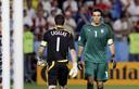 Casillas en Buffon gunnen elkaar geen blik waardig.