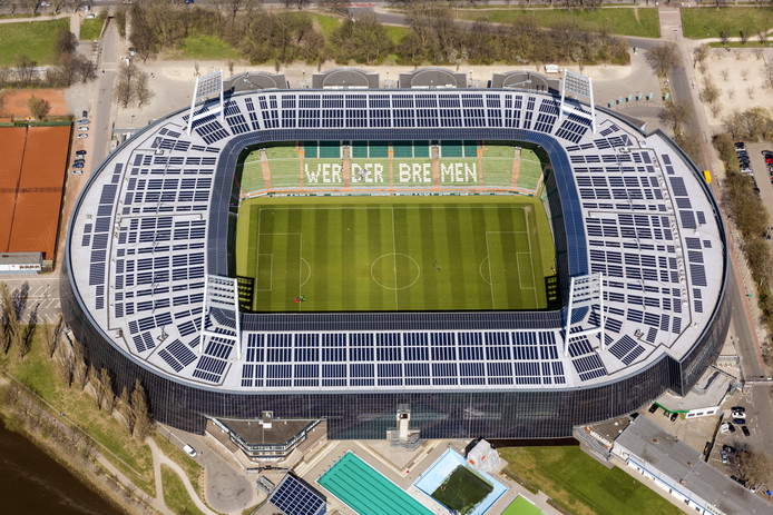 Het Weserstadion in Bremen.