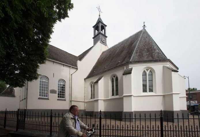 De Oude Kerk in het centrum van Veenendaal waar de dominee regelmatig predikte.
