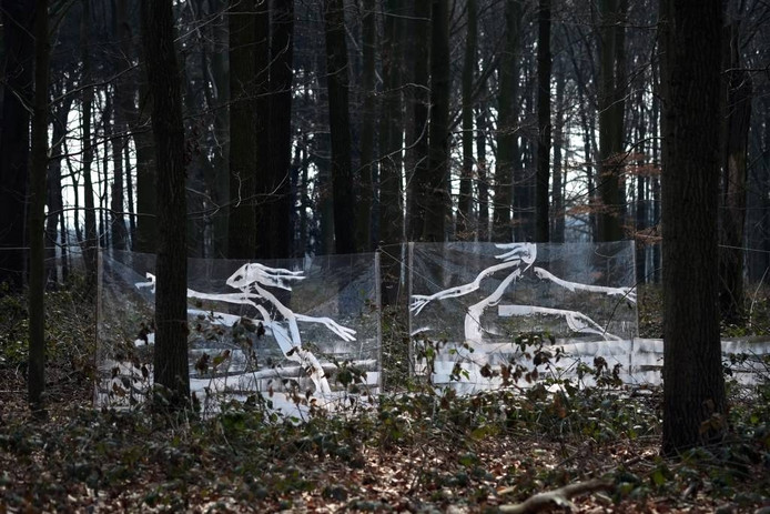 Kunst langs de route van Het Web in Hummelo. Foto: Jan vd Brink