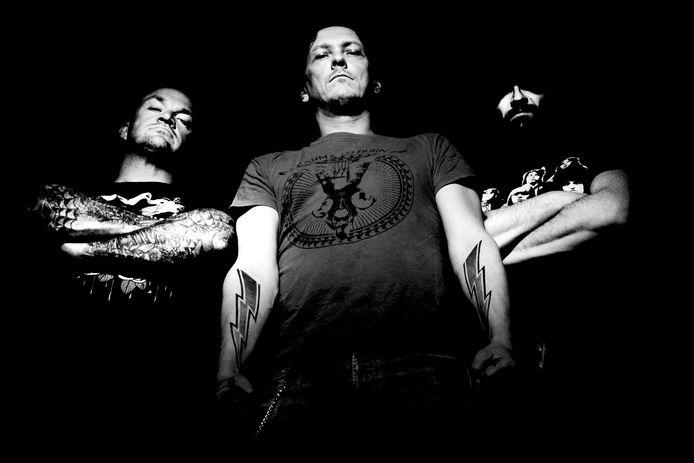 Peter Pan Speedrock (vlnr): Bart Nederhand (drums), Peter van Elderen (zang/gitaar) en Bart Geevers (bas).