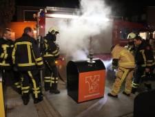 Containerbrand in Rijssen, vermoedelijk door vuurwerk