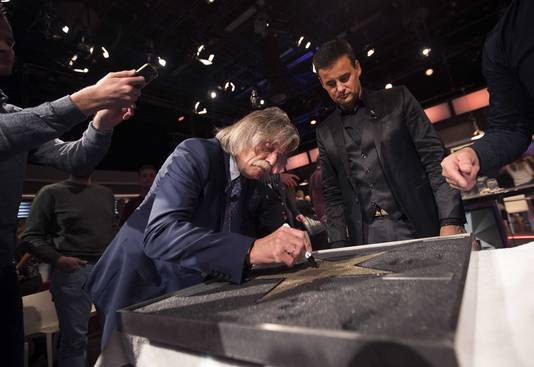 Johan Derksen en Wilfred Genee werden onlangs opgenomen in de RTL Walk of Fame