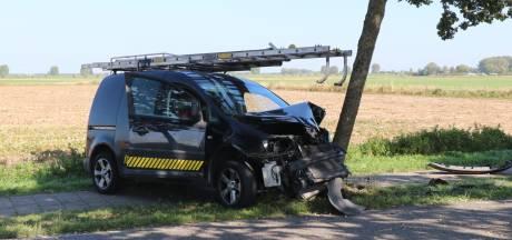 Zwaar ongeval in Herpt: bestelauto botst tegen boom, bestuurder gewond