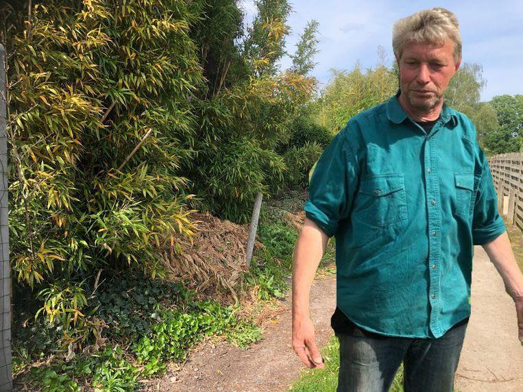 De weg waar het slachtoffer gevonden werd. Buurman Jef was diegene die de gruwelijke vondst deed.