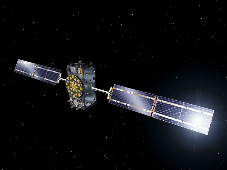 Impressie van een van de Galileo-satellieten Beeld EPA