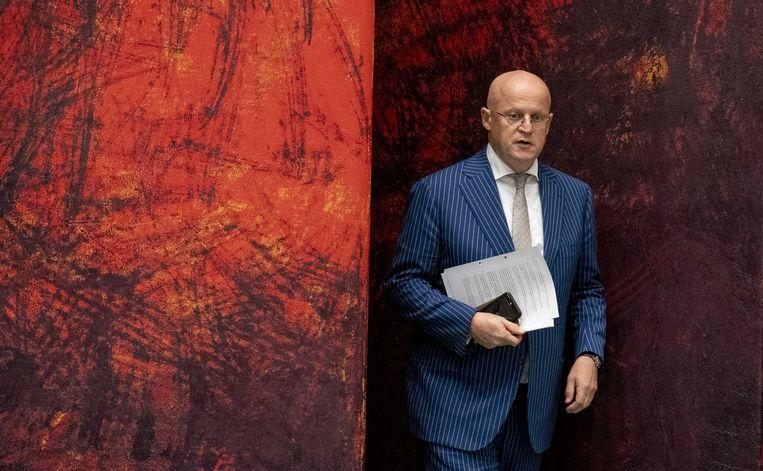 Minister Ferd Grapperhaus (Justitie en Veiligheid) in de Tweede Kamer. Beeld ANP