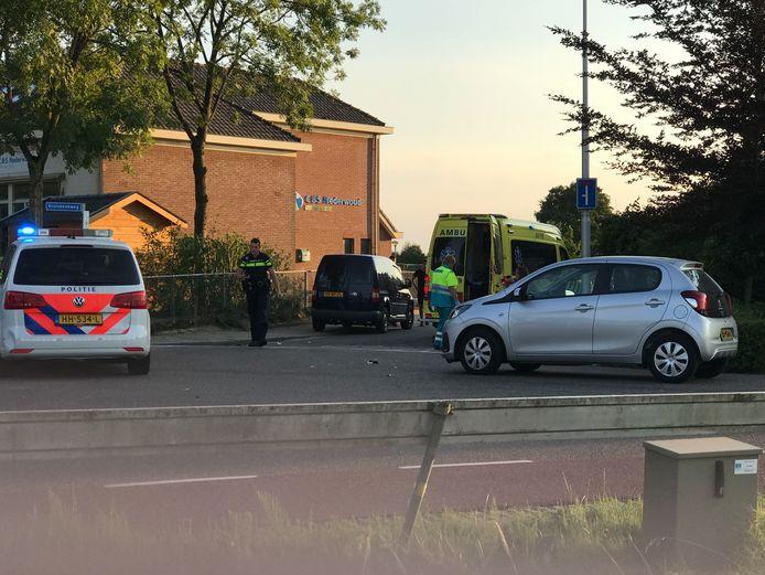 Het ongeluk destijds in Lunteren.