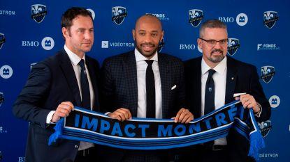 """Thierry Henry, naast Olivier Renard, voorgesteld in Montréal: """"Verliefd op de stad, in de ban van de MLS"""""""