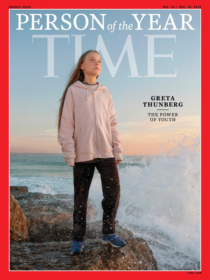 La jeune militante Greta Thunberg a été élu personnalité de l'année 2019 par Time Magazine.