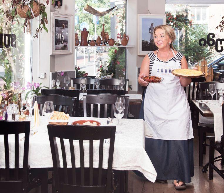 Het Georgische restaurant Suhumi, met chef-kok Isolde. Beeld Els Zweerink