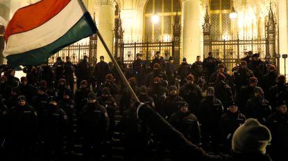 Hongaren opnieuw de straat op tegen 'slavenwet'