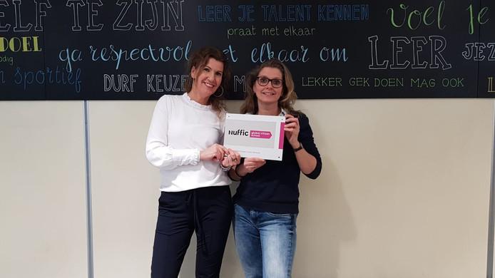 Mirjam Onderdelinden en Erna Vasse trekken het internationaliseringsproject op het Morgen College. De school heeft zich aangesloten bij Nuffic/Global Citizen Network.