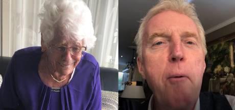 Kinderen verrassen jarige moeder (90) met videofelicitaties van BN'ers