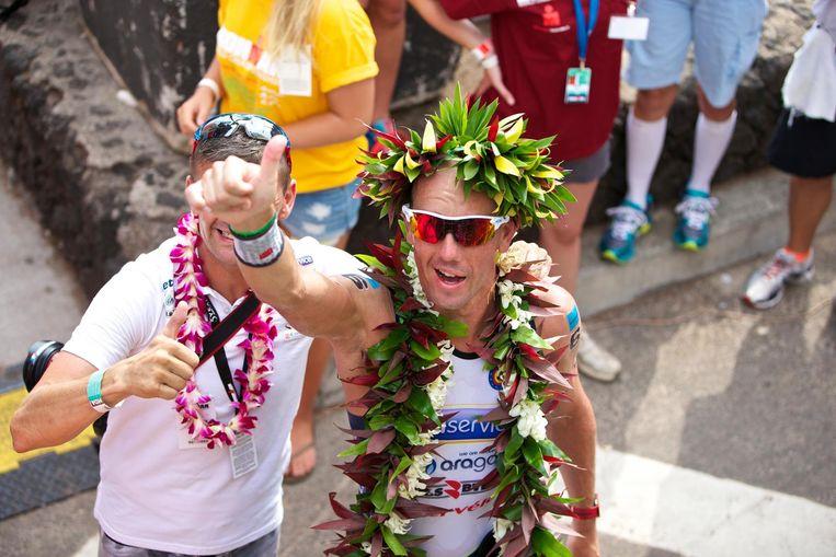 Van Lierde na de finish.