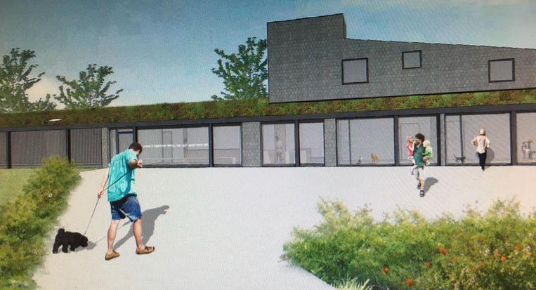 Zo zal het nieuwe dierenopvangcentrum er ongeveer uitzien.