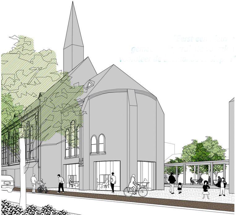 De Paterskerk wordt verbouwd tot gemeenschapscentrum en cultuurhuis.