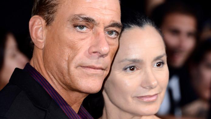 Van Damme en vrouw Gladys.