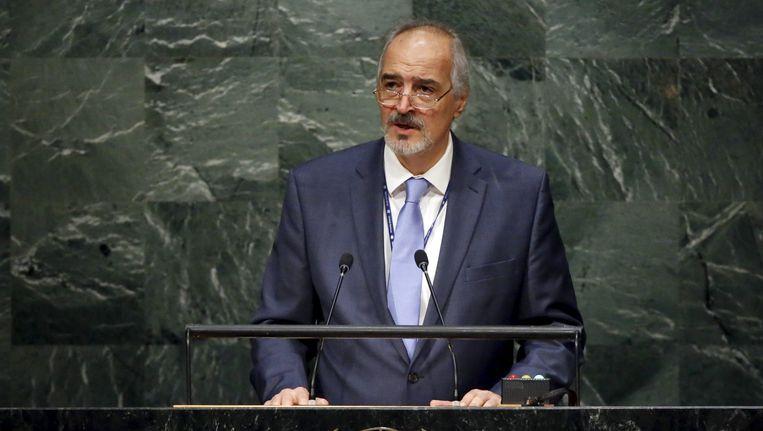 De Syrische VN-ambassadeur Bashar Jaafari. Beeld REUTERS