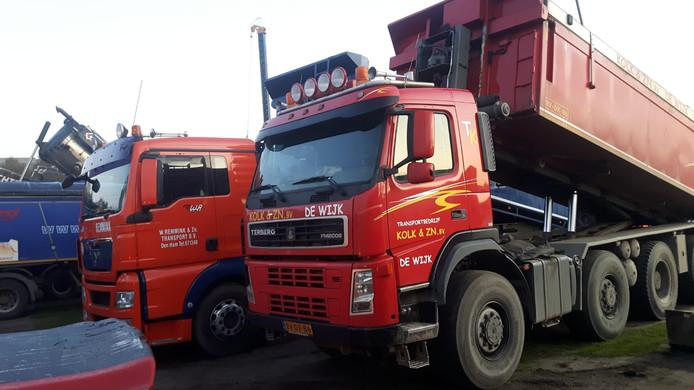 Kolk & Zoon Kippertransport B.V. is ook present bij het bouwprotest in Den Haag.