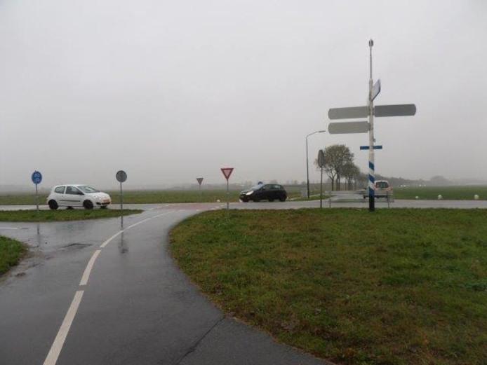 De rotonde in Andel.