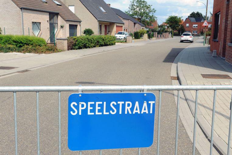 Speelstraat, Prinsstraat in Leuven (tekst nationaal)
