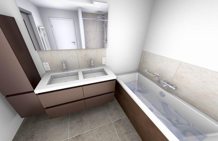 LInks: zo had de badkamer - prijs 25.000 euro - er moeten uitzien.
