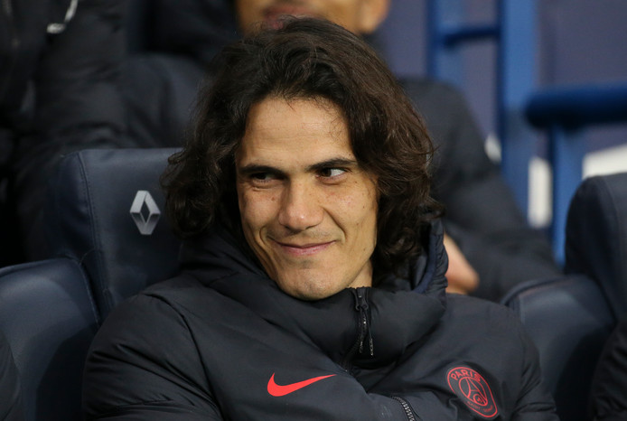 PARIS, FRANCE - JANUARY 12: Edinson Cavani of PSG during the Ligue 1 match between Paris Saint-Germain (PSG) and AS Monaco (ASM) at Parc des Princes stadium on January 12, 2020 in Paris, France. (Photo by Jean Catuffe/Getty Images)
