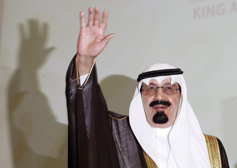 De overleden koning Abdullah Beeld afp