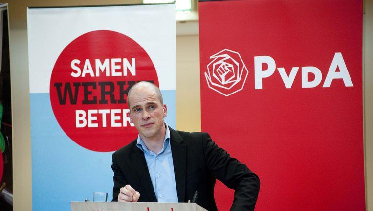 Fractieleider Diederik Samsom presenteert de keuzes van de PvdA voor de toekomst van Nederland. Beeld anp