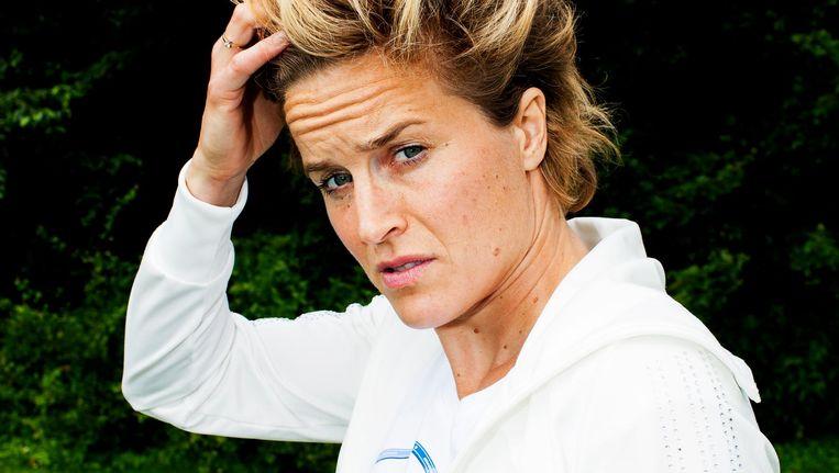 Daphne Koster: 'Ik kan mezelf wel zielig gaan zitten vinden, maar dat schiet niet op.' Beeld Renate Beense